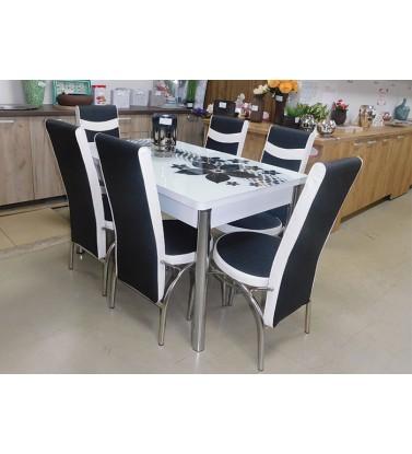 Kuhinjski sto na razvlačenje sa 6 stolica - SERENITY set