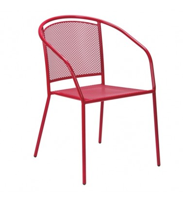 Baštenska metalna stolica crvena Arko