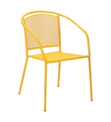 Baštenska metalna stolica žuta Arko