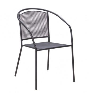 Baštenska metalna stolica siva Arko