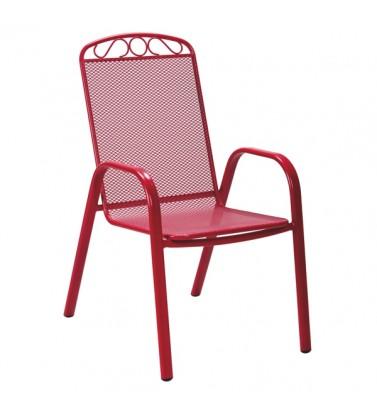 Baštenska metalna stolica crvena Melfi