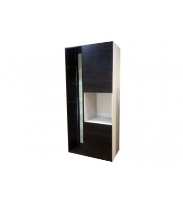 Visoki element za mikrotalasnu sa vratima i staklenim policama