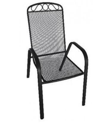 Baštenska metalna stolica  siva Melfi